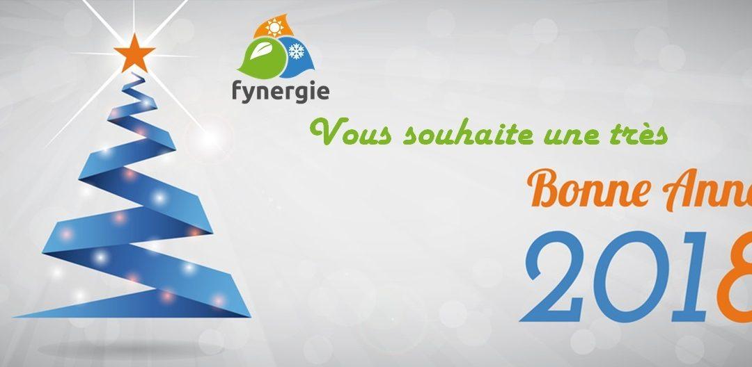 Fynergie vous souhaite une bonne année 2018
